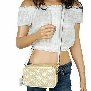 Michael Kors Kenly Camera Xbody Bag Natural/White